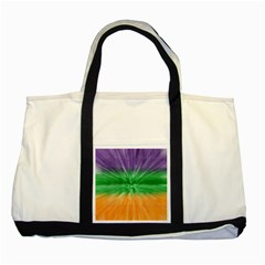 Mardi Gras Tie Die Two Tone Tote Bag
