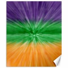 Mardi Gras Tie Die Canvas 8  x 10