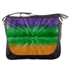 Mardi Gras Tie Die Messenger Bags