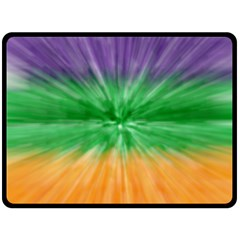 Mardi Gras Tie Die Double Sided Fleece Blanket (Large)