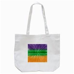 Mardi Gras Tie Die Tote Bag (White)