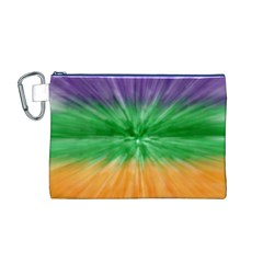 Mardi Gras Tie Die Canvas Cosmetic Bag (M)