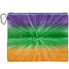Mardi Gras Tie Die Canvas Cosmetic Bag (XXXL)