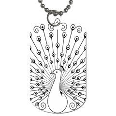 Bird Peacock Fan Animals Dog Tag (Two Sides)