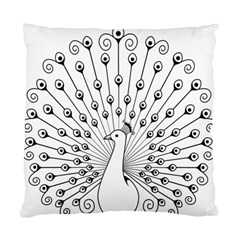 Bird Peacock Fan Animals Standard Cushion Case (Two Sides)