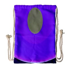 Ceiling Color Magenta Blue Lights Gray Green Purple Oculus Main Moon Light Night Wave Drawstring Bag (Large)