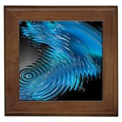 Waves Wave Water Blue Hole Black Framed Tiles