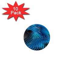 Waves Wave Water Blue Hole Black 1  Mini Magnet (10 Pack)