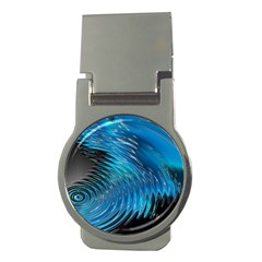 Waves Wave Water Blue Hole Black Money Clips (round)