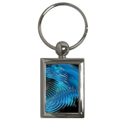 Waves Wave Water Blue Hole Black Key Chains (Rectangle)