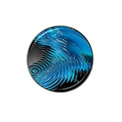 Waves Wave Water Blue Hole Black Hat Clip Ball Marker (4 pack)