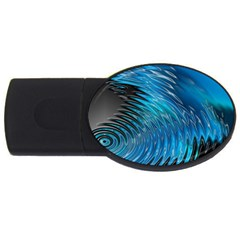 Waves Wave Water Blue Hole Black USB Flash Drive Oval (4 GB)