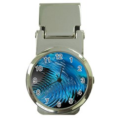 Waves Wave Water Blue Hole Black Money Clip Watches