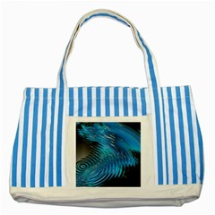 Waves Wave Water Blue Hole Black Striped Blue Tote Bag