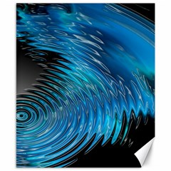 Waves Wave Water Blue Hole Black Canvas 8  x 10