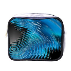 Waves Wave Water Blue Hole Black Mini Toiletries Bags