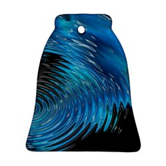 Waves Wave Water Blue Hole Black Ornament (Bell)