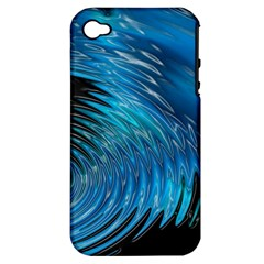 Waves Wave Water Blue Hole Black Apple iPhone 4/4S Hardshell Case (PC+Silicone)
