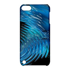 Waves Wave Water Blue Hole Black Apple iPod Touch 5 Hardshell Case with Stand
