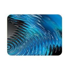 Waves Wave Water Blue Hole Black Double Sided Flano Blanket (Mini)