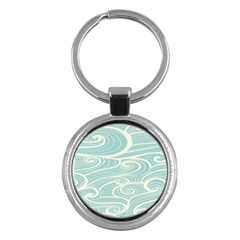 Blue Waves Key Chains (Round)