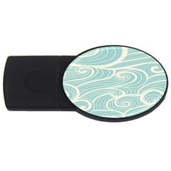Blue Waves USB Flash Drive Oval (2 GB)