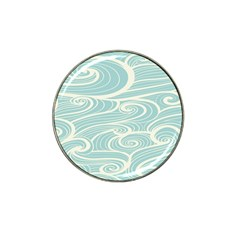 Blue Waves Hat Clip Ball Marker