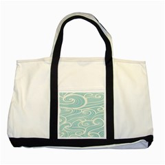 Blue Waves Two Tone Tote Bag