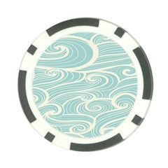 Blue Waves Poker Chip Card Guard