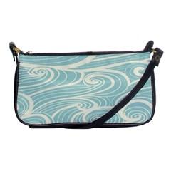 Blue Waves Shoulder Clutch Bags