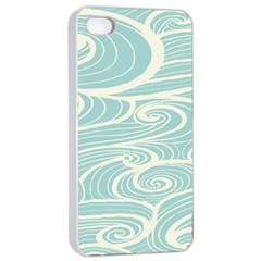 Blue Waves Apple iPhone 4/4s Seamless Case (White)