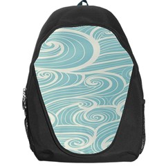 Blue Waves Backpack Bag