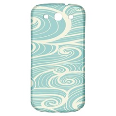 Blue Waves Samsung Galaxy S3 S III Classic Hardshell Back Case