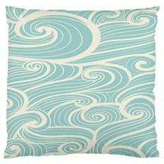 Blue Waves Standard Flano Cushion Case (One Side)