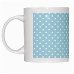 Circle Blue White White Mugs