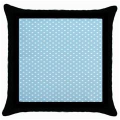 Circle Blue White Throw Pillow Case (Black)