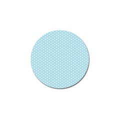 Circle Blue White Golf Ball Marker