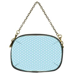 Circle Blue White Chain Purses (One Side)