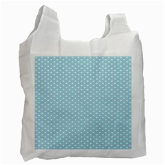 Circle Blue White Recycle Bag (One Side)
