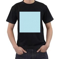 Circle Blue White Men s T-Shirt (Black)