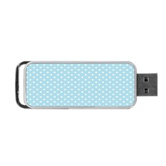Circle Blue White Portable USB Flash (One Side)