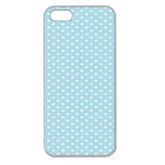 Circle Blue White Apple Seamless iPhone 5 Case (Clear)