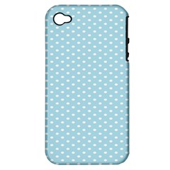 Circle Blue White Apple iPhone 4/4S Hardshell Case (PC+Silicone)