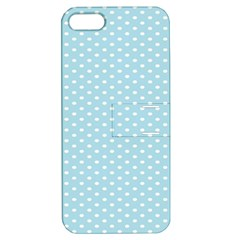 Circle Blue White Apple iPhone 5 Hardshell Case with Stand