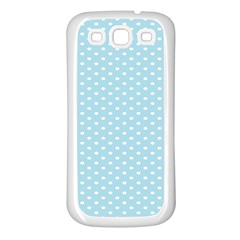 Circle Blue White Samsung Galaxy S3 Back Case (White)