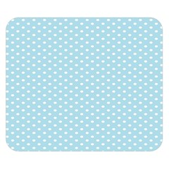 Circle Blue White Double Sided Flano Blanket (Small)
