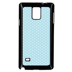 Circle Blue White Samsung Galaxy Note 4 Case (Black)