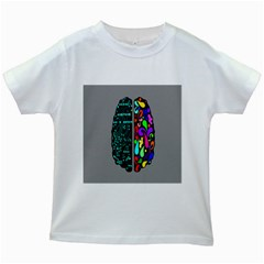 Emotional Rational Brain Kids White T Shirts