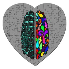 Emotional Rational Brain Jigsaw Puzzle (Heart)