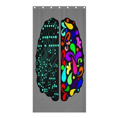 Emotional Rational Brain Shower Curtain 36  x 72  (Stall)